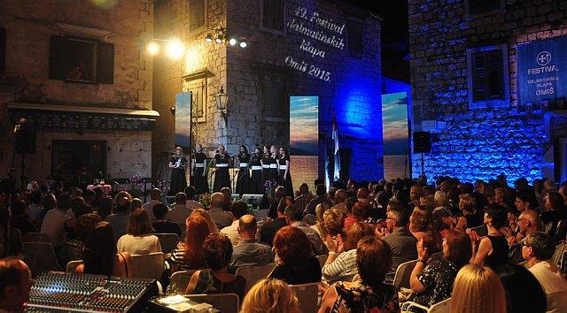 49. festival dalmatinskih klapa Omiš 2015.