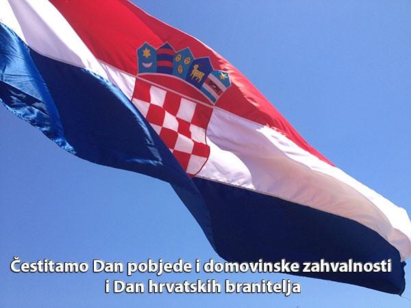 Čestitam Dan pobjede i domovinske zahvalnosti i Dana hrvatskih hranitelja