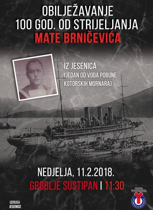 Mate Brničević. stota obljetnica smrti