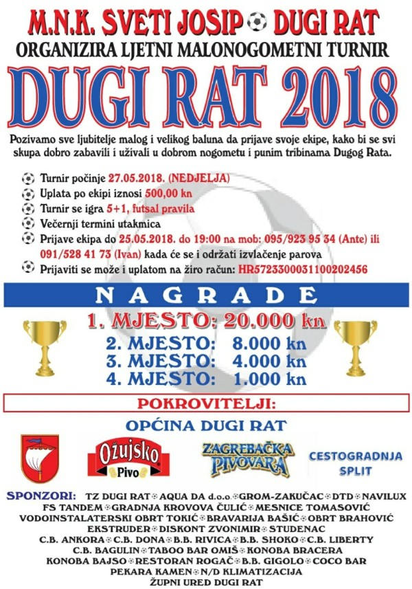 Malonogometni Turnir Dugi Rat 2018