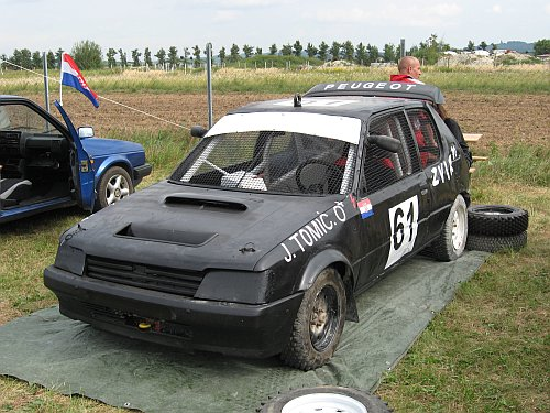 Autocross detalj. Auto Klub ONEUM Omiš