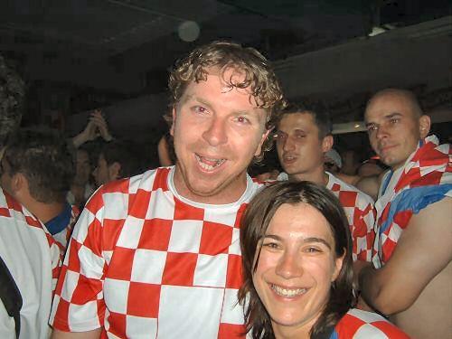 Stjepko i Rake na stadionu u Berlinu na utakmici HRVATSKA - BRAZIL