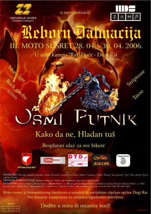 Plakat za III moto susret MK Reborn Dalmacija