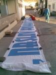 Torcida Dugi Rat u radnoj akciji izrade transparenta