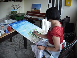 Izložba radova 5. slikarske kolonije Krug