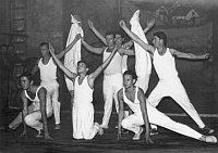 Gimnastičari nekoć u Dugom Ratu