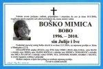 Osmrtnica - Boško Mimica