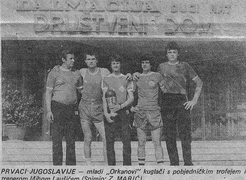 Kuglači Orkana prvaci Jugoslavije