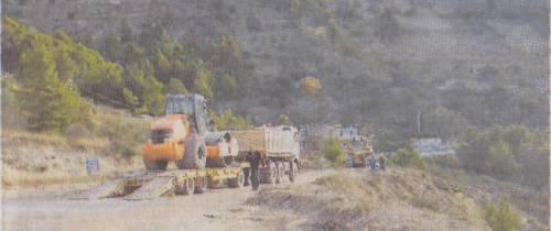 Dan nakon svečanog otvaranja radova, s gradilišta odlaze strojevi