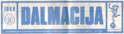 tvornički list Dalmacija